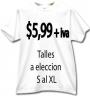 5,99 Remeras lisas, Publicitarias, Promocionales, Merchandising, Impresas