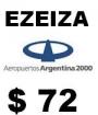 Taxi,Remis,Transfer,Aeropuerto de EZEIZA $ 72 pesos