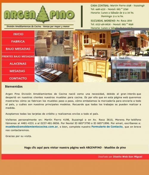 Amoblamientos de cocina argen pino muebles de pino ituzaingó (bs as