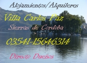 Dueño alquila,casas,chalet ,cabañas de categoria Sierras de Cordoba Valle Punilla