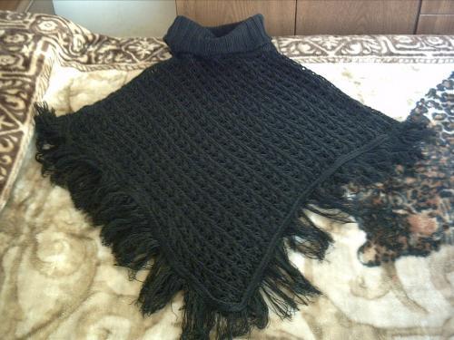 Ruanas tejidas a crochet - Imagui