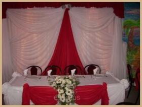 Decoracion con telas globos y arreglos florales precio for Decoracion con globos precios
