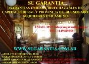 Garantias alquileres departamentos casas locales oficinas