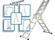 Escalera de Aluminio Articulada Multipropósito de 16 escalones