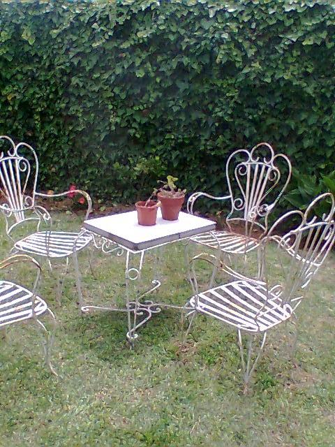 Vendo juego jardin hierro forjado en buenos aires decoraci n y
