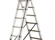 Escalera de Aluminio Modelo Extensible y Tijera de 3 tramos Altura 4.80 mts