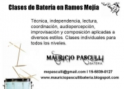 Clases de Batería en Zona Oete; Ramos Mejía