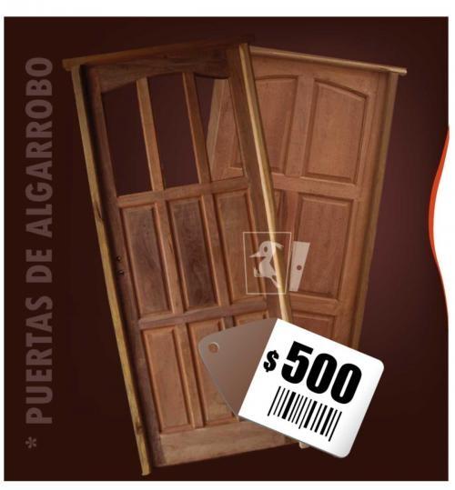 Puertas y ventanas de madera de algarrobo y aluminio san jorge