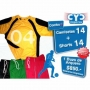 Pack 14 Camisetas + 14 Short + Buzo De Arquero