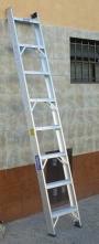 Escalera Aluminio Reforzada de 1 Hoja Alt 2.40 mts 8 esc - Apta para Locales y Estanterías