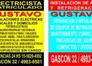 electricista caballito 24 hs(155-8294992//4983-8581)