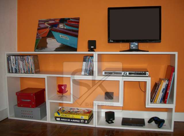Mueble tv rack lcd modular divisor biblioteca living estar dormitorio