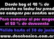 Venta de ropa de mujer por mayor on line en Córdoba (Argentina)