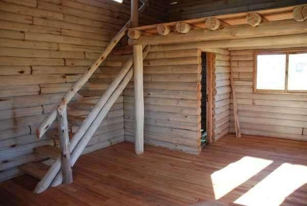 Construccion de cabau00f1as de troncos de eucaliptus en Ituzaingu00f3 ...