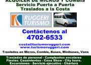 Traslados Alquiler de vans, buses en Pilar Llame (4702 6533)