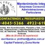 Mantenimiento Integral para administraciones y particulares zona Caballito [15-4045 5266]