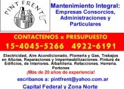 Pintura de edificios zona Palermo Llamenos *15-40455266* Sr Angel Rubio
