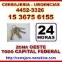 Cerrajeria San Miguel Llamenos (15-3675-6155) Urgencias Zna Oeste