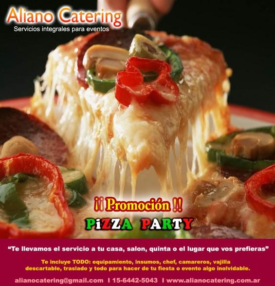 Pizza party a domicilio barras de tragos casamientos fiesta de 15 capital fed 1564425043