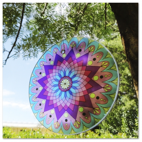 Mandalas vidrio colgantes-new vitro-novedad-20cm-el globo!