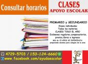APOYO ESCOLAR PRIMARIO y SECUNDARIO Clases individuales