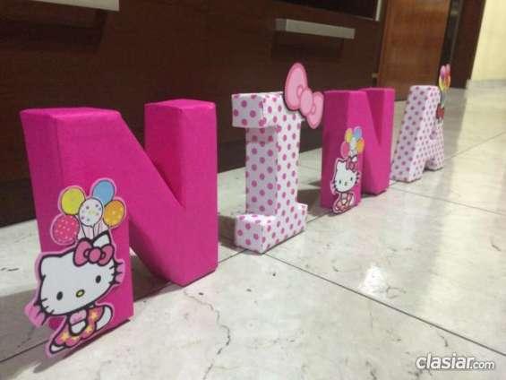 Decoracion letras 3d - Letras para decorar habitacion infantil ...