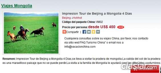Impresion tour de beijing a mongolia 4 dias