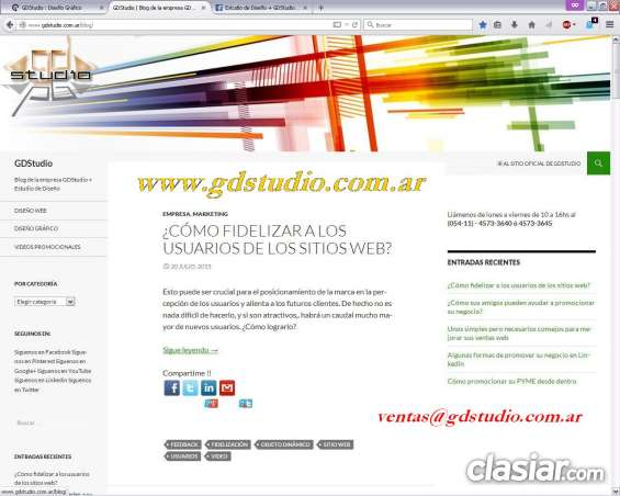 ºº diseño web profesional º diseño responsive º gdstudio ºº