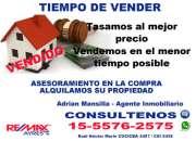 Tasamos Su Propiedad  Caballito, Belgrano , Palermo, Recoleta  Telefono *15-5576-2575*