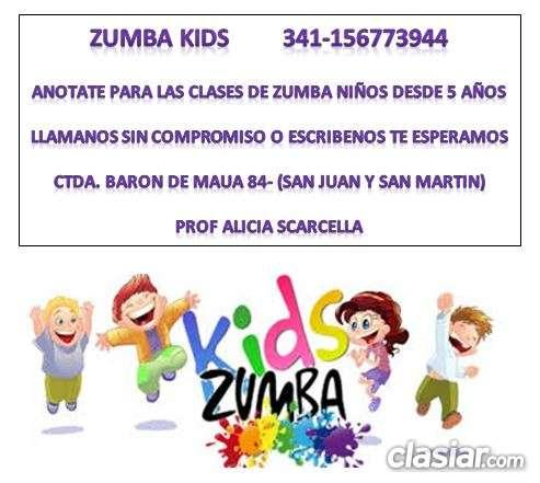 Zumba kids. desde 5 años a 14 años