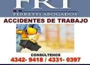 Abogado para reclamo en SRT capital federal Microcentro Tfno 4342-9418