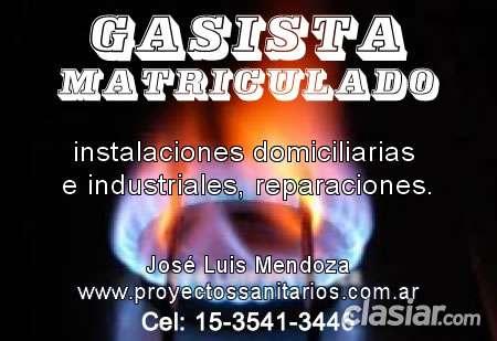 Gasista matriculado en capital - urgencias - 15-3541-3446