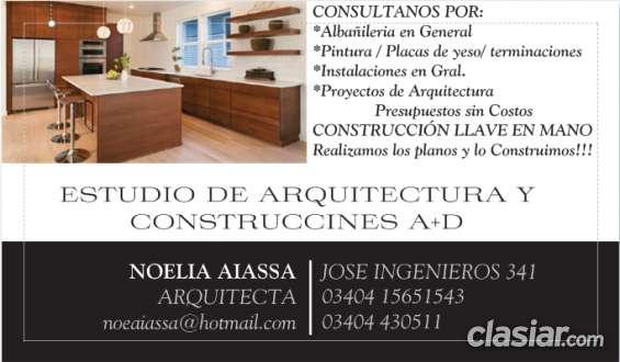 Estudio de arquitectura y construcciones a+d arq. noelia aiassa