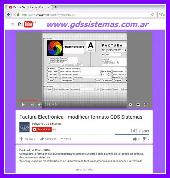Factura electrónica argentina ^v^ gds sistemas