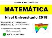 Profesor particular de matemática matemática ic y matemática iic (uns)