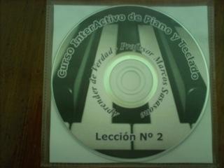 Cursos de piano/teclado en 10 dvds