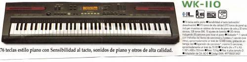 Vendo teclado casiowk110 sensitivo nuevo!
