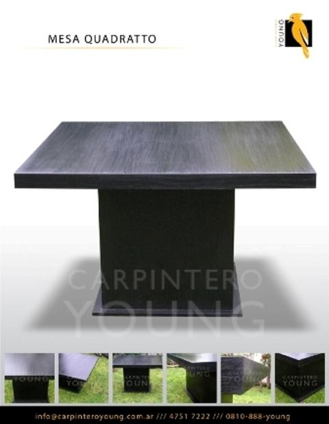 Carpintero young fabrica diseño mesas comedor