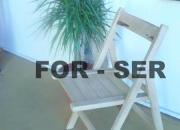 vendo sillas plegables de madera guayaibi