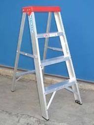 Escalera de aluminio tijera familiar ? doméstica 1.00 mts. 4 escalones