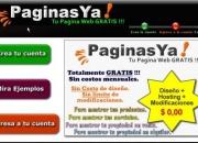 Crea tu pagina web Gratis, sin conocimientos tecnicos o de programacion, 100% Gratis