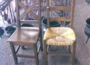 Sillas rusticas asiento de madera o de junco