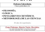 Profesora IPC - Pensamiento científico. 4963-2508. Barrio Norte-Palermo. Amplia experienci