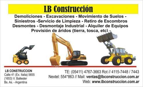 Movimiento de suelos, excavaciones, desmontes