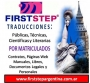 FIRST STEP TRADUCTORES PÚBLICOS MATRICULADOS