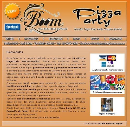 Pizza party boom | atención en zona oeste, zona norte y zona sur | buenos aires