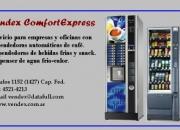 Expendedora, expendedoras automáticas de café y bebidas frías.