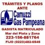 GASISTA PLOMERO MATRICULADO-MdP-156-881764 fijo 482-6545