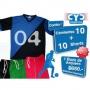 Pack 10 Camisetas + 10 Short + 1 Buzo De Arquero