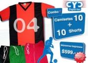 Pack de equipos de fútbol camiseta y short